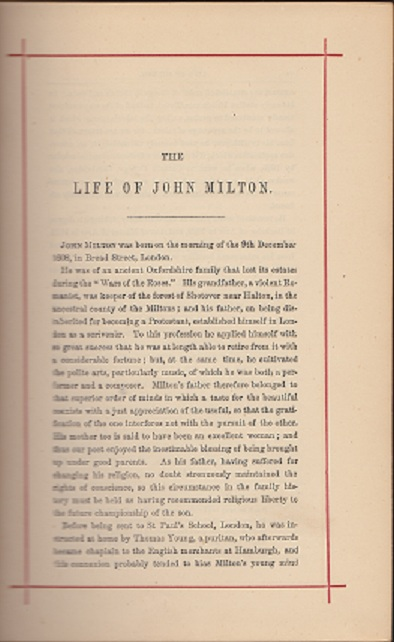 Image for The Poetical Works of John Milton